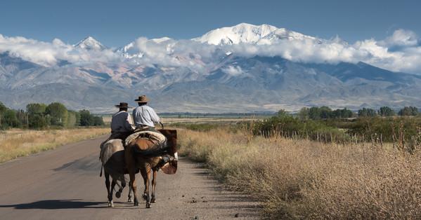 Argentine Voyage face aux Andes dans la province de Mendoza