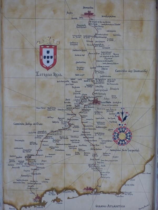 Brésil Voyage Minas Gerais carte