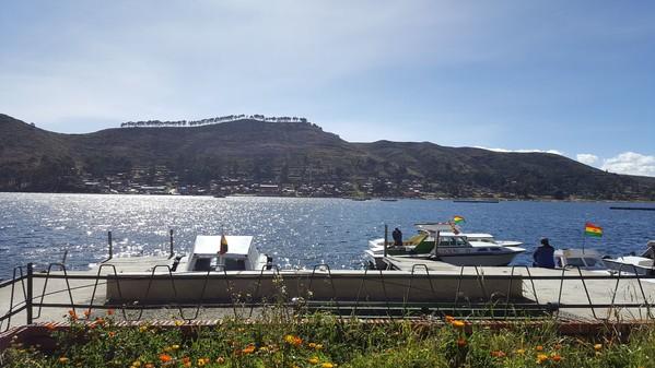 Voyage Bolivie Lac Titicaca arrivée bateaux