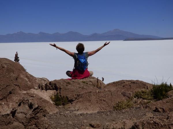 Bolivie Voyage Uyuni saut dans l'air