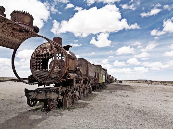 Bolivie Voyage cimetière des trains