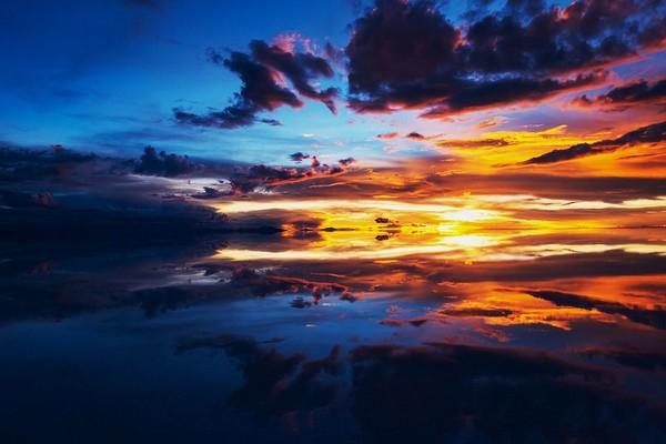 Voyage Bolivie coucher de soleil fin de période des pluies