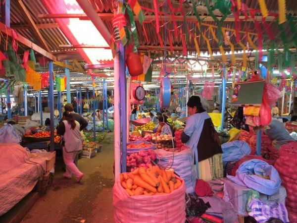 Bolivie Voyage La Paz scène de marché