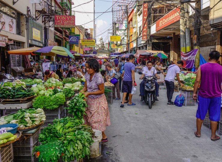 Voyage Asie Philippines Manille mégalopole marché