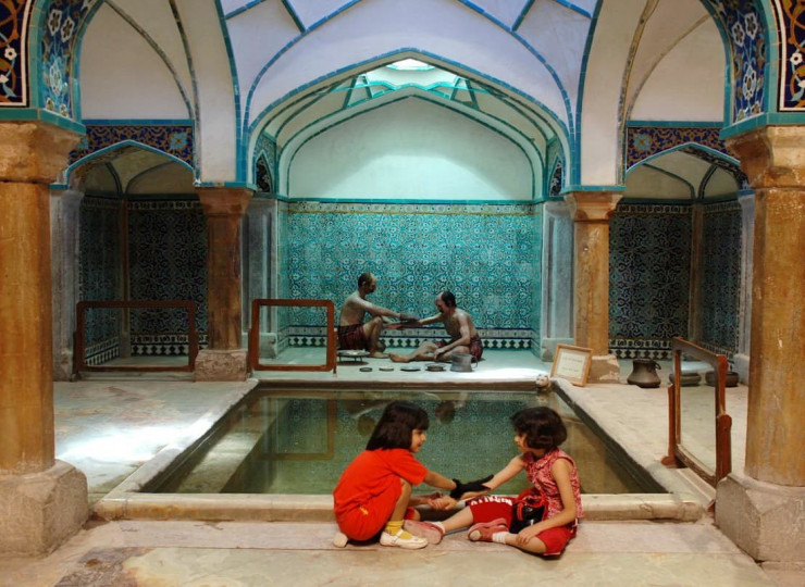 Les bains de Ganj Ali Khan