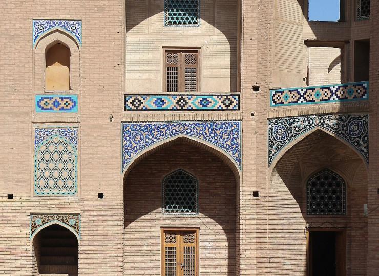 Le caravansérail et la mosquée de Ganj Ali Khan