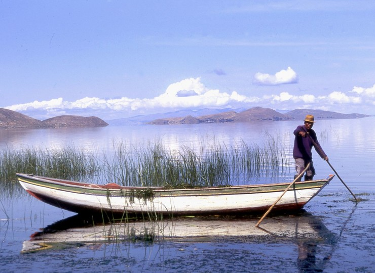 Bolivie Voyage Lac Titicaca bateau pêcheurs