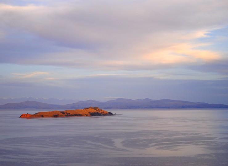 Bolivie Voyage Lac Titicaca île de la Lune de loin