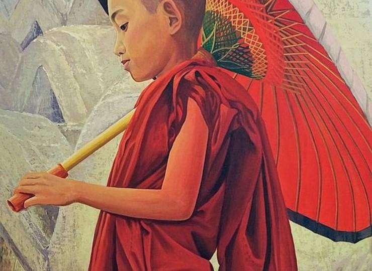 Visite de galeries d'art avec une experte à Yangon