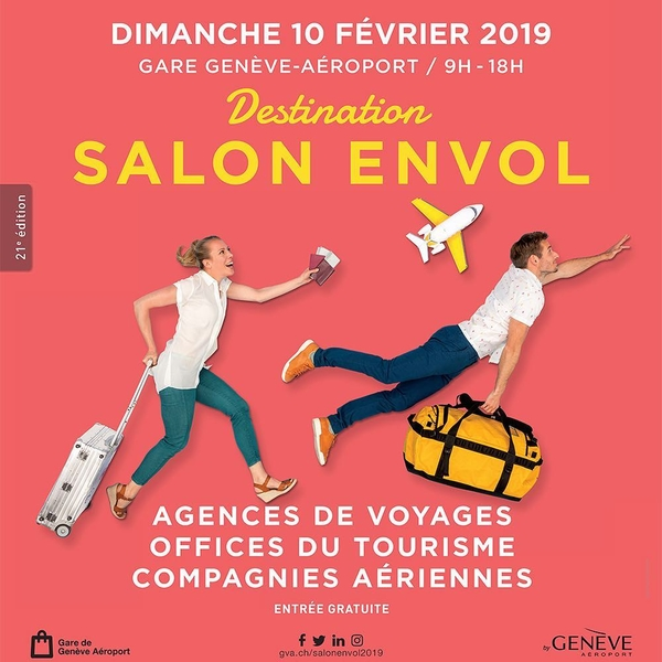 [SAVE THE DATE] 🗓 ⠀ Find us this Sunday between 9AM to 6PM at Salon Envol in the main hall of the train station of Genève-Aéroport ✈️ ! Free ⠀ #salonenvol #genevaairport #geneva #travelagent #traveltheworld #travelwithfamily #keepexploring #sunday #weloveourjob #travelwithadgentes