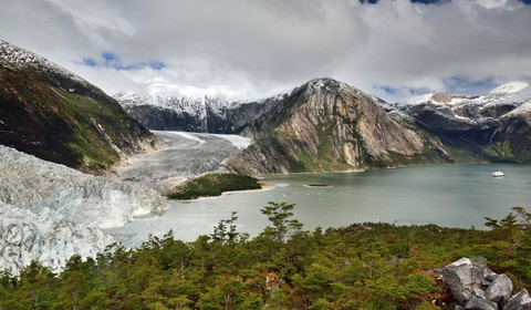 Glacier Pía - Avenue des glaciers
