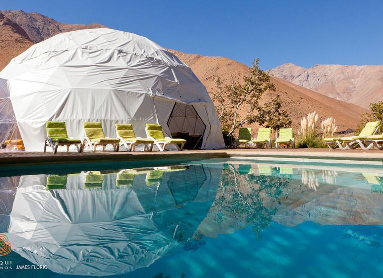 Chili Voyage Pisco Elqui Los Domos avec piscine