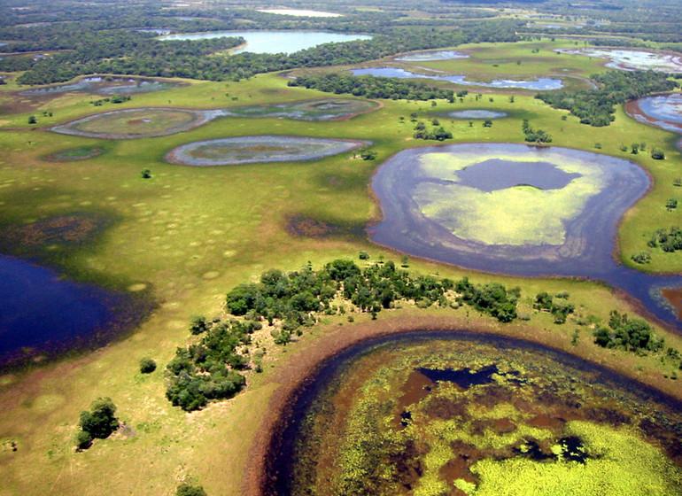 Brésil Voyage Pantanal Barranco Alto survol des crues en fin de saison des pluies