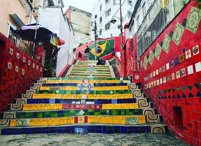 Brésil Voyage Rio de Janeiro Escalier Selaron