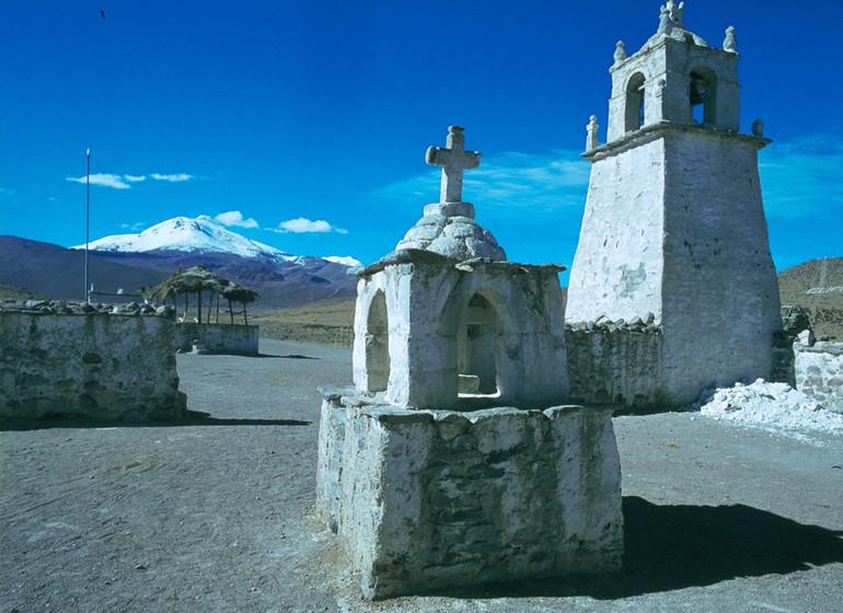 Chili Voyage église près de Parinacota