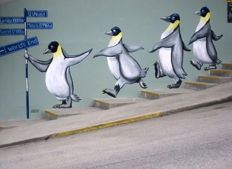 Argentine Voyage Ushuaia graffiti