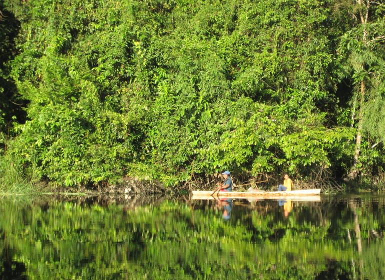 Pérou Voyage Amazonie Nord Heliconia River Lodge ambiance sur l'eau