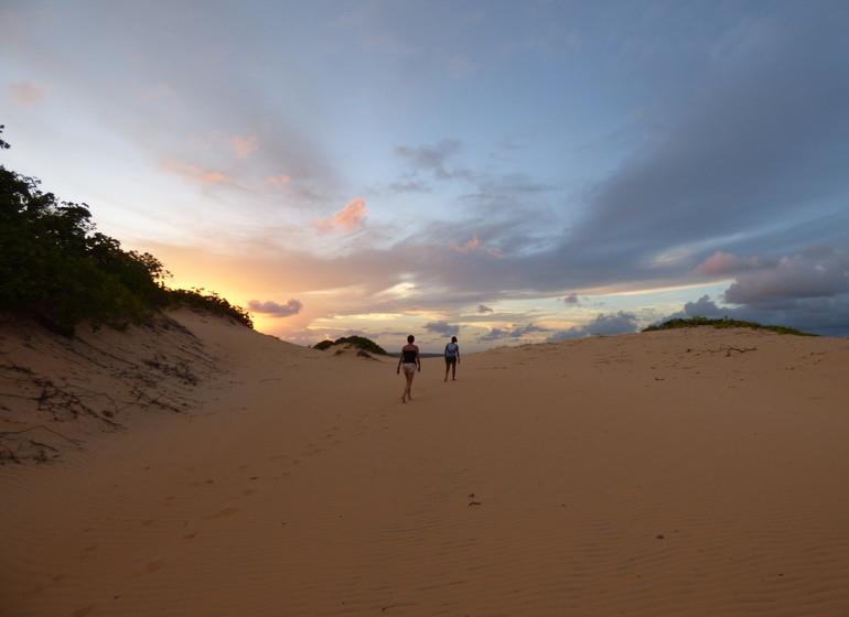 Brésil Voyage Pipa sur les dunes pour le coucher du soleil