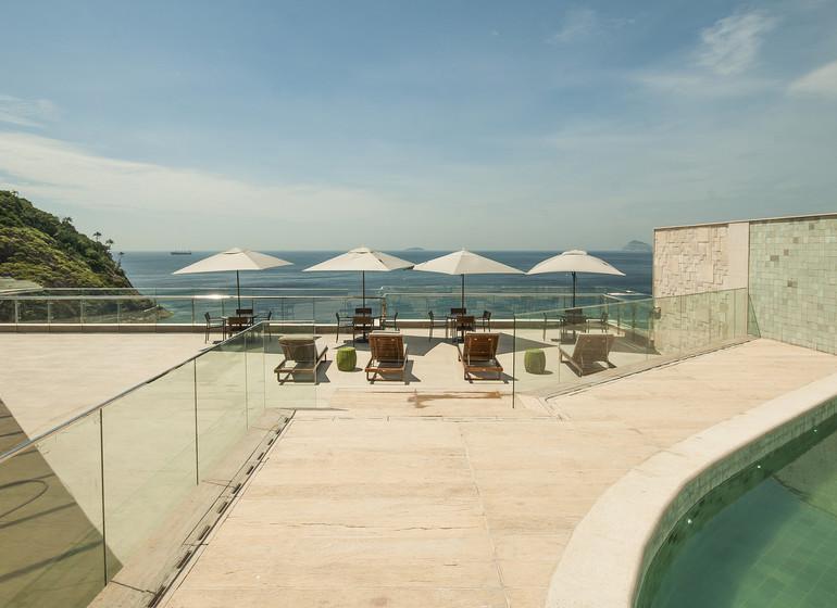 Brésil Voyage Arena Leme terrasse sur le toit