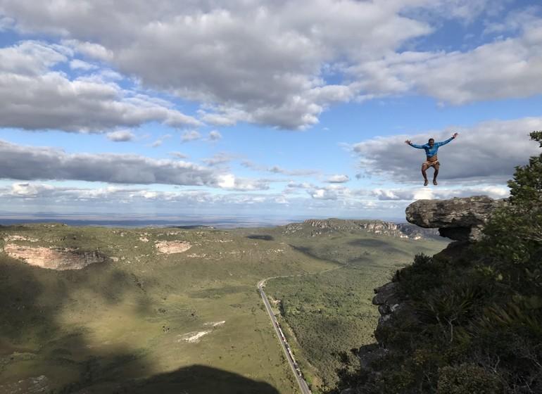 Brésil Voyage Chapada Diamantina saut sur rocher