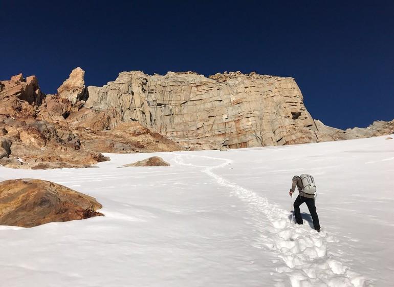 Argentine Voyage Explora El Chaltén trek neige