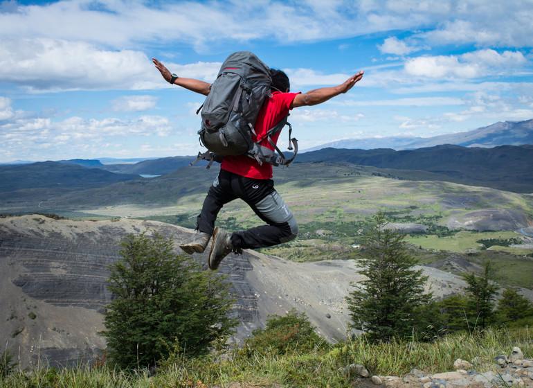 Chili Voyage Paine Trek saut dans l'air