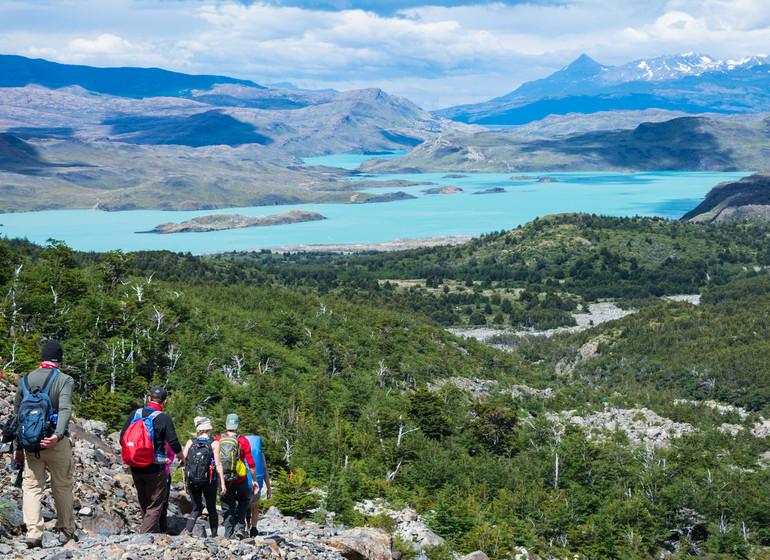 Chili Voyage Paine Trek avec vue sur le Lago Grey
