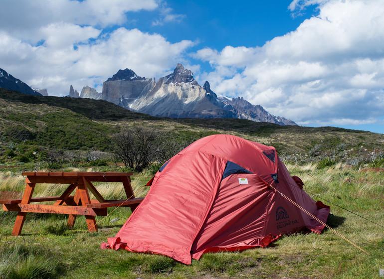Chili Voyage Paine Trek sous tente