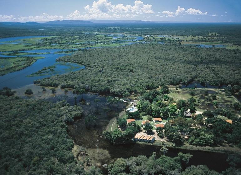 Brésil Voyage Pantanal Rio Mutum vue du ciel