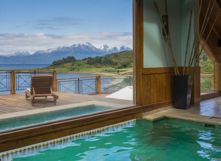 Argentine Voyage Ushuaia Los Cauquenes piscine