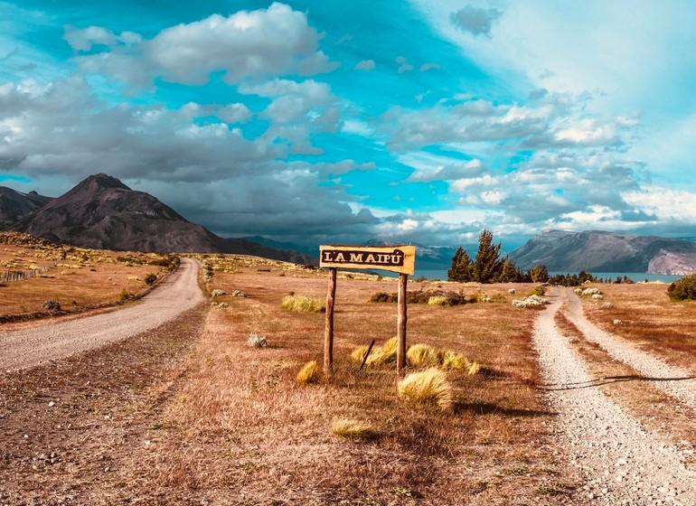 Argentine Voyage Patagonie Estancia La Maipú panneau