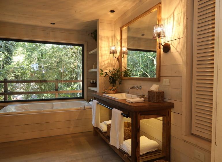 Argentine Voyage Iguazu Awasi Lodge bains