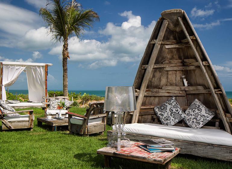 Brésil Voyage Jeri Chili Beach jardin