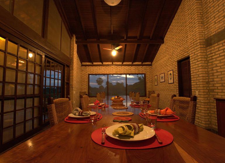 Brésil Voyage Pantanal Barranco Alto salle à manger