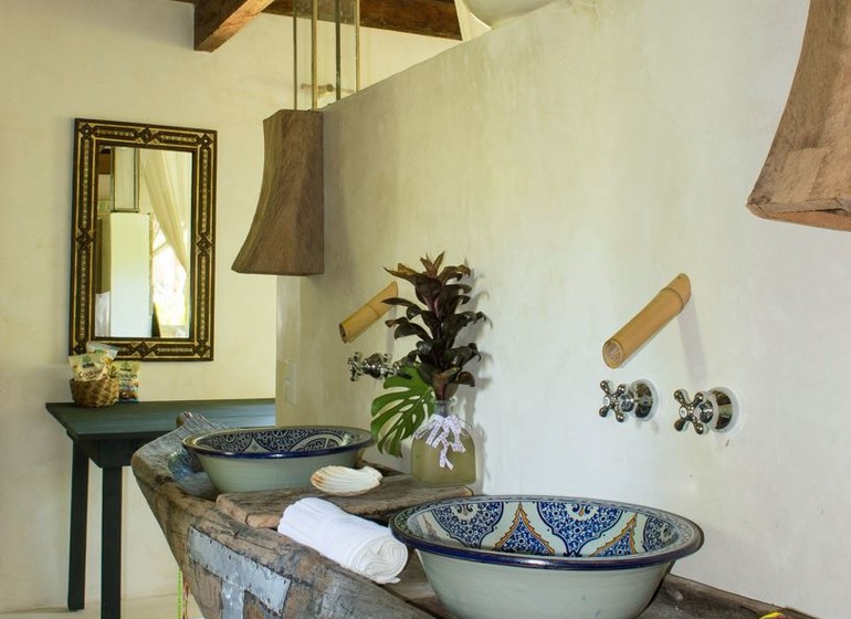 Brésil Voyage Marau Butterlfy House salle de bains