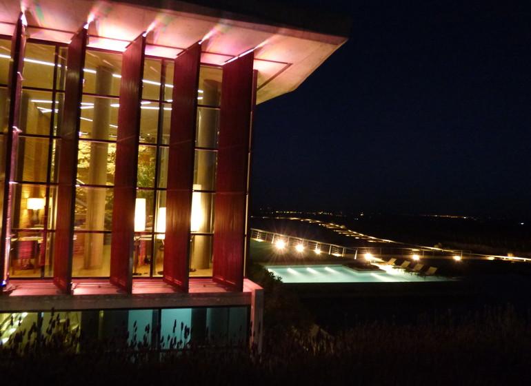 Argentine Voyage Casa de Uco vue extérieure la nuit