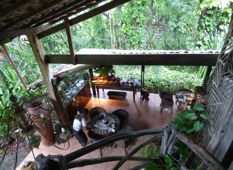 Brésil Voyage Pipa Toca da Coruja vue sur buffet du café de manha