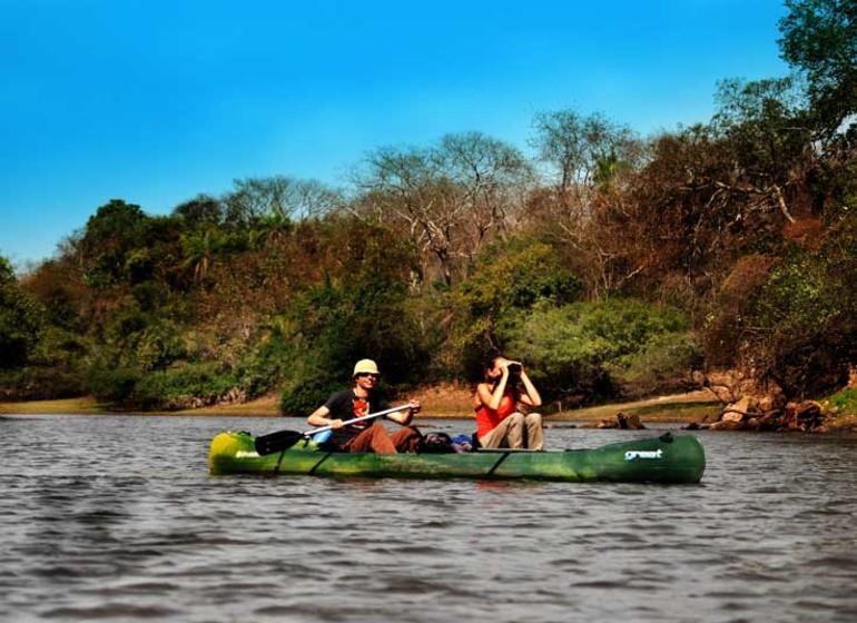 Brésil Voyage Pantanal Barranco Alto excursion en canoe
