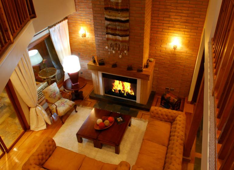 Chile Voyage Casa Molino séjour avec cheminée