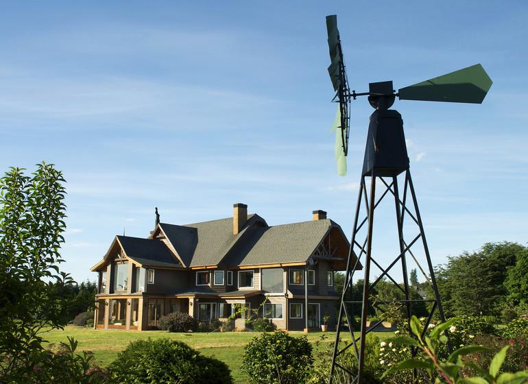 Chile Voyage Casa Molino avec jardin et wind wheel