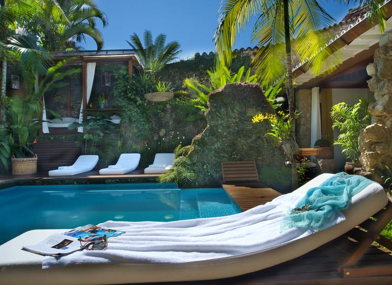 Brésil Voyage Paraty Casa Turquesa patio avec petit pool