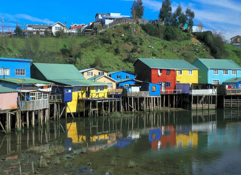Chili Voyage Chiloé maisons sur pilotis