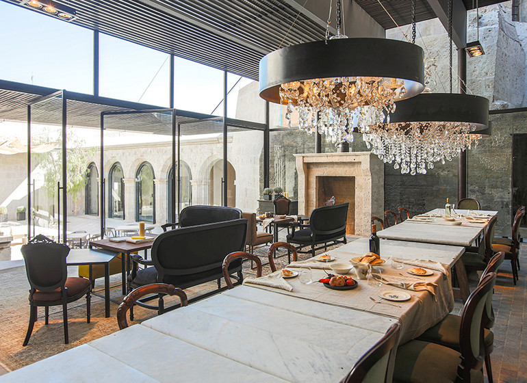 Pérou Voyage Cirqa hotel Arequipa salle à manger