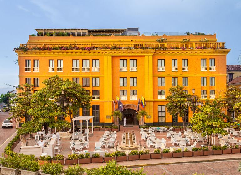 Colombie voyage Cartagena Charleston Santa Teresa facade