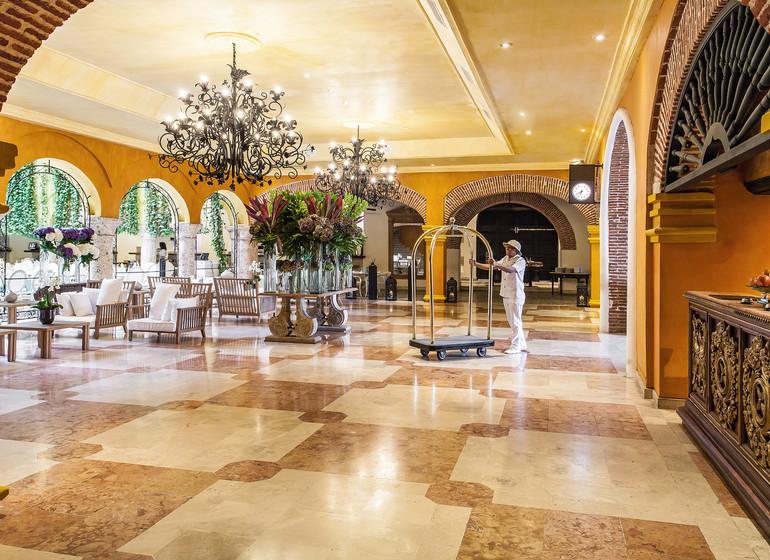 Colombie voyage Cartagena Charleston Santa Teresa lobby