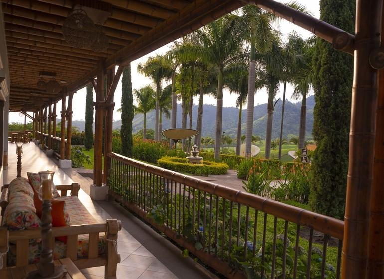 Colombie Voyage Casa San Carlos Lodge veranda