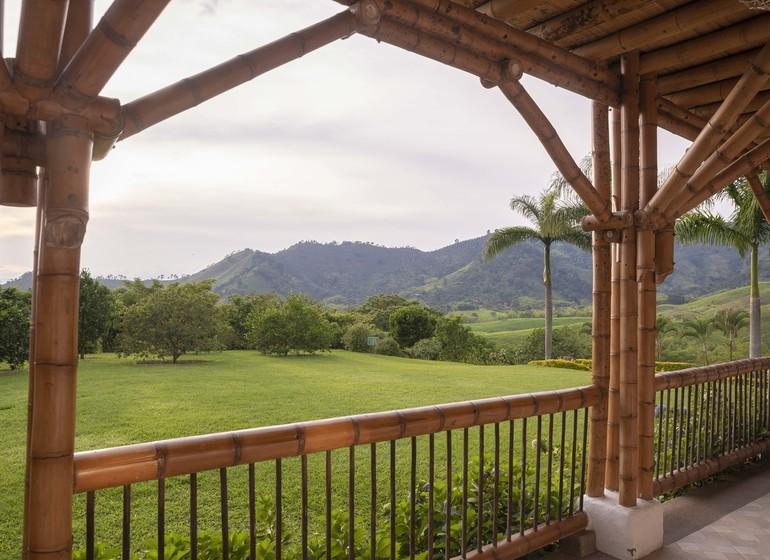 Colombie Voyage Casa San Carlos Lodge vue depuis veranda