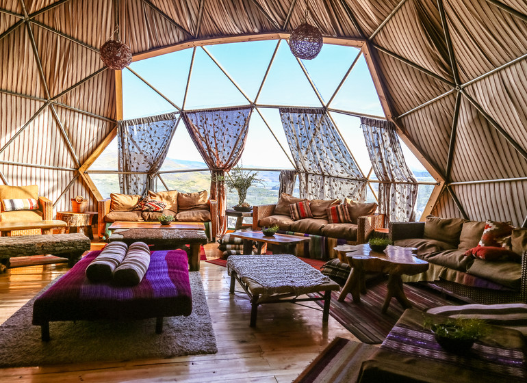 Chili Voyage Torres del Paine Ecocamp dome lounge