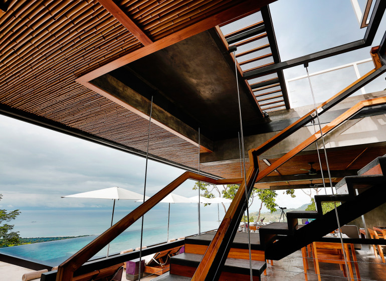 Costa Rica Voyage Kura Design Villas vue sur piscine depuis l'intérieur