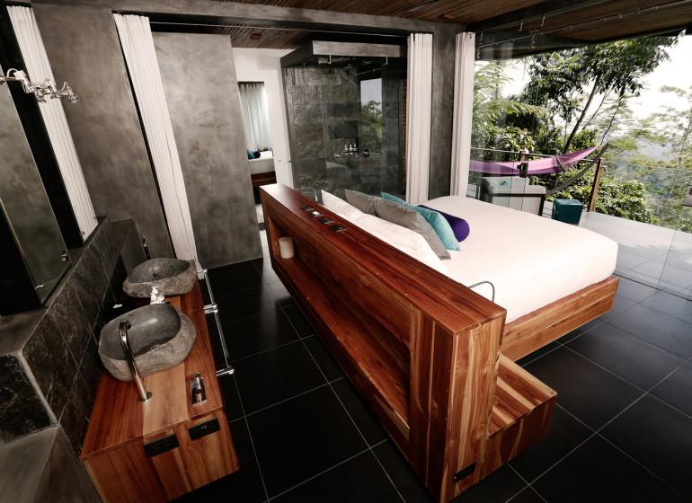 Costa Rica Voyage Kura Design Villas suite avec salle de bain ouverte